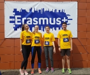 "ERASMUS+ komanda ""We Run Vilnius"" maratone"